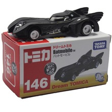 "Classic Toy for Kids Takara Tomy DC Batmobile Dream Tomica 146 Bat Cars Model 8cm/3"" New DC006002(China)"