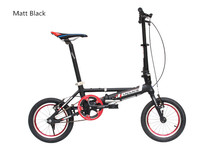 Free shipping single Speeds 14 inches Folding Bike, Folding bicycle , Aluminum Alloy Body, Both Disc Brakes Ally Fork