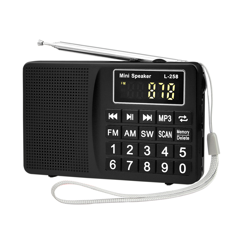 XHDATA D-318 FM/AM/SW Multiband Portable Radio MP3 Speaker Receiver FM stereo(China (Mainland))