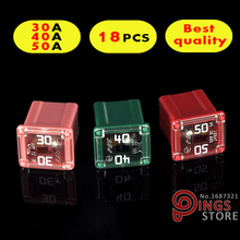 18PCS 30A 40A 50A Original rectangle small type Auto fuse,Japan and USA car fuses for Toyota Audi BMW VW etc.(China)