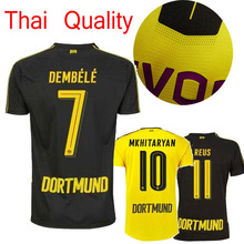 hy 2017 Dortmundes AAA quality Best Qualit Adult short sleeve Soccer jersey new 16 17 Home Away 3RD men shirt Free shipping u