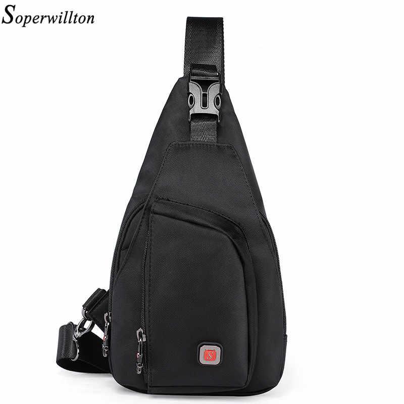 d61d4a570d4 Soperwillton Men Crossbody Bag Men s Bag Shoulder Chest Pack 2019 Oxford Travel  Chest Bag Men Bag