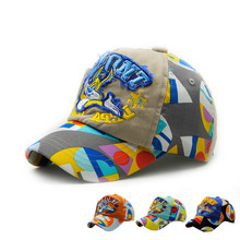 2017 Outdoor Summer Children's Cap Girl Boy Sun Hat Kids Baseball Cap Snapback Letter Adjustable 3-8T(China)