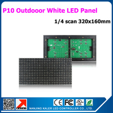 TEEHO Wholesale Price Outdoor Scrolling LED Sign, P10 white Color Module, 320mm x 160mm, Hot-selling LED Advertising Billboard