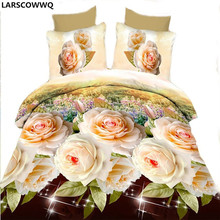 LARSCOWWQ 3D Sheets 4pcs of Wholesale Activity of Quilt Bedding Printing