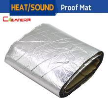 Cawanerl 1Pcs 120cm x100cm Car Hood Engine Firewall Heat Mat Deadener Sound Insulation Deadening Material Aluminum Foil Sticker(China)