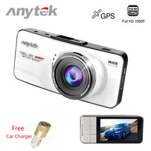Anytek AT66A Car DVRS Auto Camera Recorder Hidden Dvr Dash Cam Full HD 1080P Video 170 Degree 2.7 Screen Car Detector GPS Night