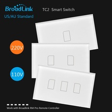 Broadlink TC2 Switch 1 2 3 gang US/AU Standard Smart home Automation Touch Panel RM pro Wireless Remote Control by smart phone