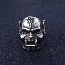Classic Vintage Punk Titanium Steel Skull Head Rings Male Creative personality exaggerated Violent orc Rings For Men Gifts(China)