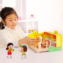 Children's Educational Toys Girls House Assembled Toy Bricks Dream Kitchen Manufacturers Selling Toys(China)