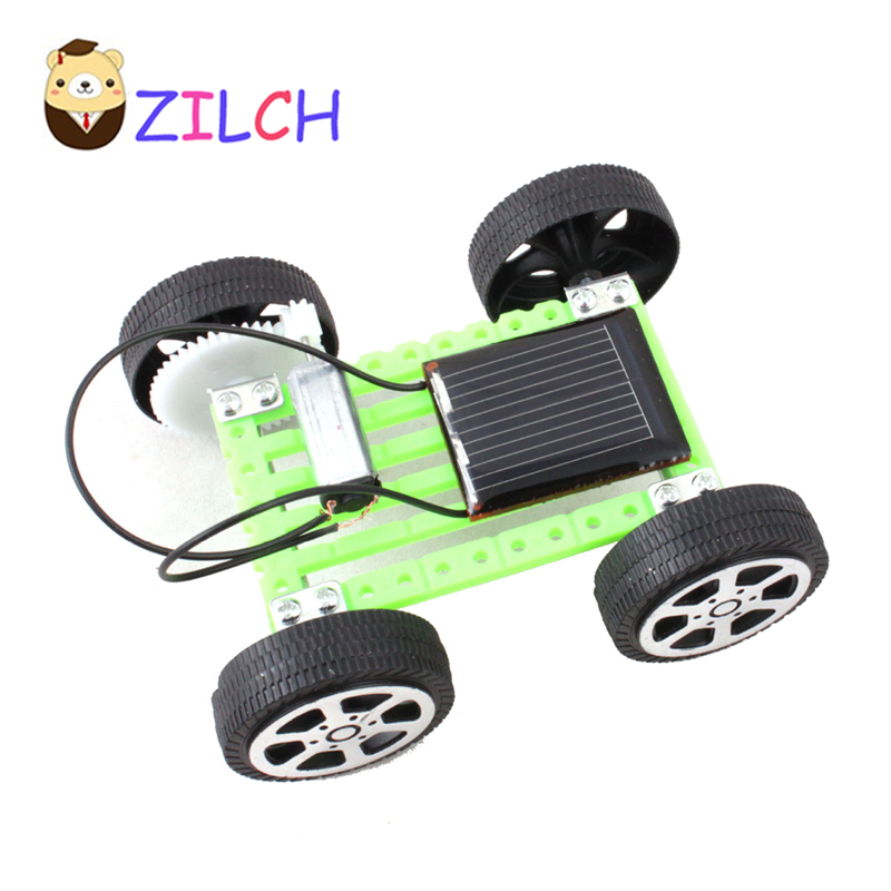 DIY Simple Solar Toys Car Solar Power Energy Children Learning Teaching Fun Toy Gift For Kids(China)