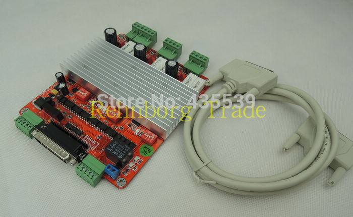 Free shipping! Factory outlets CNC 3 Axis Controller TB6560 3.5A Stepper Motor Driver Board + one DB25 caple Factory outlets<br>