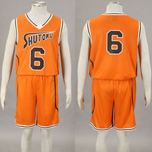 Kuroko no basket No. 6 Midorima Shintaro Cosplay Costume Shutoku Basketball Team Uniform Orange  Wholesale