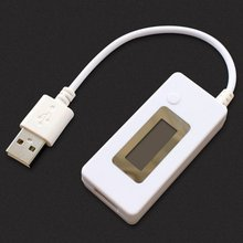 LCD USB Charger Capacity Current Voltage Tester Meter For Cell Phone Power Bank(China)