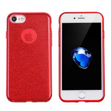 For Apple iPhone 7 Phone Bags Luxury 2 IN 1 TPU+PC Cover Anti-Scratch Cell Phone Glitter Cover Coque For iPhone 7 /7 Plus Fundas