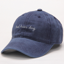 High Quality Washed Cotton Bad Hair Day Adjustable Solid Color Baseball Cap Unisex Couple Cap Fashion Dad HAT Snapback Cap(China)