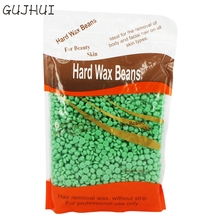 GUJHUI 1 bag Tea Tree Flavor No Strip Depilatory Hot Film Hard Wax Pellet Waxing Bikini Hair Removal Bean D26