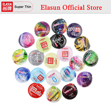 ELASUN 1 Barrel Various Type Ultra Thin Ice Fire Thread Condoms Dotted Stimulation Pleasure Sex Fun Natural Latex Rubber Condom(China)