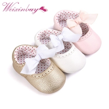 Newborn Baby Moccasin Babies Shoes Soft Bottom PU Leather Toddler Infant First Walkers Boots(China)