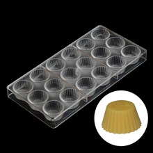 Christmas Chocolate Mold Bakery Cake Making Tools Chocolate Cupcakes Mold Mini Circle Cup Round Plastic Tray Chocolate Moulds(China)
