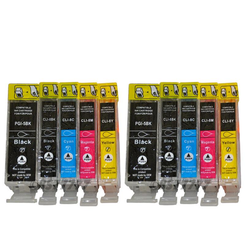 2015 New [Hisaint] 10 PK PGI 5 CLI 8 INK FOR CANON PIXMA IP 4200 4300 4500 5200 5300 6600 6700D<br><br>Aliexpress