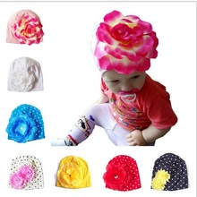 Newborn Photography Props Cotton Baby Girls Hats Toddler Beanies Flower Accessories Boutique Caps Kids Floral Spring Summer Hat(China)