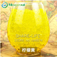 Golden Transparent color Crystal Mud Soil Water Beads Bio Gel Ball For Flower/Weeding/Deraction 100pcs/Bag(China)
