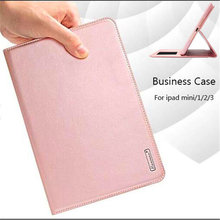 Luxury Retro Flip Book Genuine Leather Case For apple ipad mini 1 2 3 Magnetic Stand Smart Cover For iPad mini2 mini3 tablet(China)