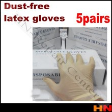 5pairs Clean disposable gloves powder free latex box clean glove antistatic dust free latex gloves