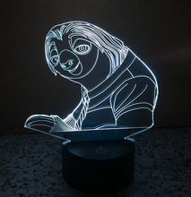 Crazy animal City Sloth 3D LED Night lights 7 Light Colors Table Lamps for Party Children Bedroom Lamp Baby Toys