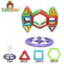 35 Pcs Magic Building Block Magnetic Toys 3D DIY Educational Game Construction Stacking Sets Bricks Toys For Children(China)