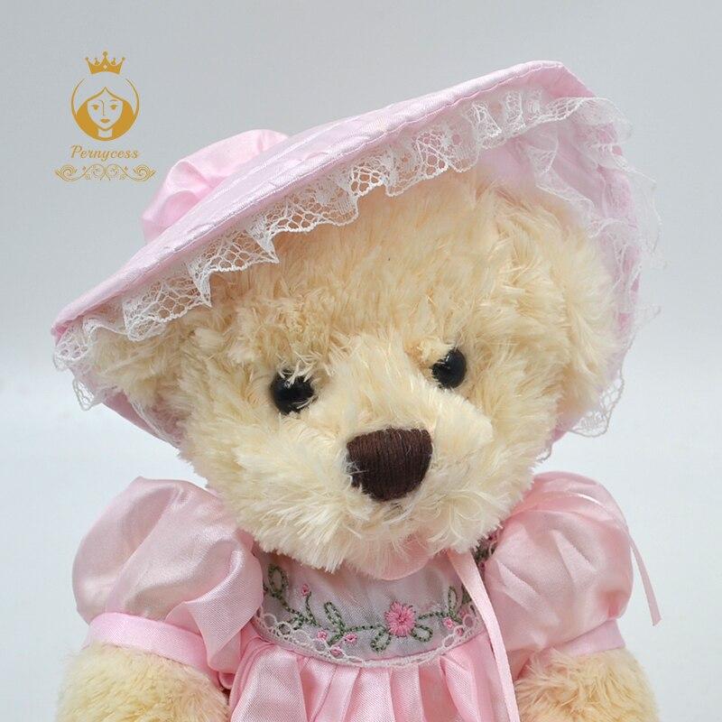 4-1PCS-30CM-cute-teddy-bear-wearing-a-skirt-plush-stuffed-toys-plush-dolls-kids-role-playing