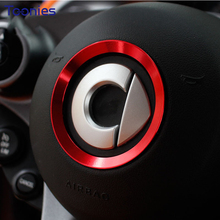 Smart 453 Fortwo Forfour Automotive Accessories Car Steering Wheel Cover Shell Interior Car Decoration Metal Ring Car Styling