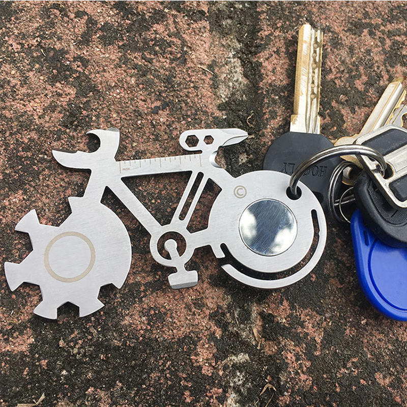 Useful 10 in 1 Outdoor Key chain Screwdriver Bicycle Repair Tools Edc Tool Kits