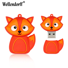 Zootopia Penguin / Bee / Owl / Fox / Black Cat Animal model cute usb pen 64GB 32GB 16GB 8GB 4GB USB Flash Drive Memory Stick(China)