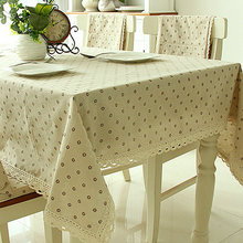 2017 hot sales dining table cloth little flower printed cotton fabric table cover coffee table decoration 4 colors