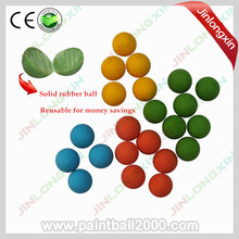 40 pcs/bag 0.68 Caliber Paintball Training Ball Reball Rubber Ball