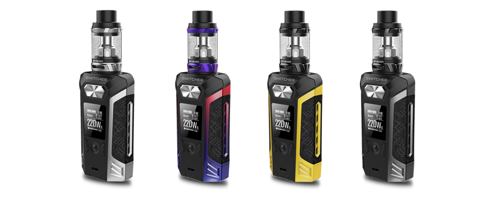 Original Vaporesso Switcher Kit with Switcher Vape 220W Box Mod and 2m 5ml NRG Tank Atomizer No 18650 Battery E cigarette (10)