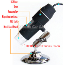 Newest USB digital microscope 2MP 1~1000X Continuous zoom builtin 8LED light with holder stand Digital Microscope Magnifier(China)
