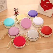 Useful Mini Earphone Headphone SD Card Macarons Bag Storage Box Case Carrying Pouch Storage Box 8 Colors to Choose