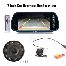Buy Auto TV Car Rear view mirror Monitor + 10 Lights Night Vision CCD Car Rear View Camera Reverse Parktronic car Parking for $45.99 in AliExpress store