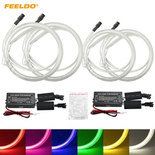 FEELDO 4Pcs/set White For Volkswagen Passat 05-08 Car Styling Headlight CCFL Angel Eyes Light Halo Rings Kits #AM4852(China)