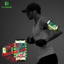Buy FLOVEME LED Sport Running Armband Universal Mobile Phone Gym Armband Fitness Cell Phone Bag Case Cover iPhone 7 6 6S Plus 8 for $4.99 in AliExpress store