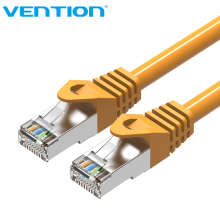 Vention 10PCS/Pack 30cm CAT6A SSTP Patch Cord network Lan Cable CAT 6A RJ45 1Gbps Network Gigabit Ethernet Cable for PC Router(China)