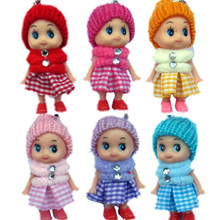 MIni Girl doll fashion small rubber doll the wedding small gift plush toy cell phone accessories wholesale