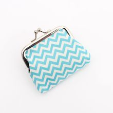 Cute women coin purses Girl hasp small wallets female coin bag Lady Cotton cloth pouch Kids hand bag children change purse blue(China)