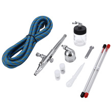 0.2mm / 0.3mm / 0.5mm Portable Gravity Feed Dual Action Airbrush Paint Spray Gun Set For Body Art Painting Dake Decorating