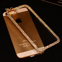 Luxury Rhinestone Diamond Bling Claw Chain Jewelry Crystal Phone Cases Cover for iPhone 4 4S 5 5S 5SE 6 6S 7 Plus Case 3D Rabbit(China)