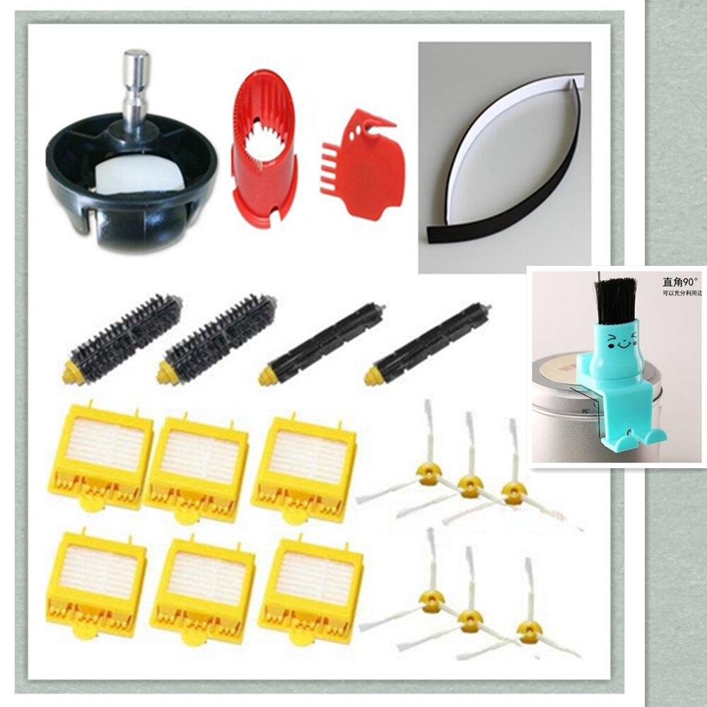 Hepa Filter + Flexible Beater Bristle Brush + side brush + Front steering wheel tool for iRobot Roomba 700 760 770 780 790 parts<br>