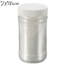 KiWarm 100g Pearl White Glitter Pigment Powder Sparkle Shimmer Paint for Handicrafts DIY Hand Painted Graffiti Art Supplies